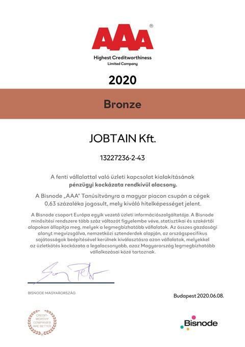 2020-JOBTAIN-Kft-A-minősítés-Bronz-Új-magyar